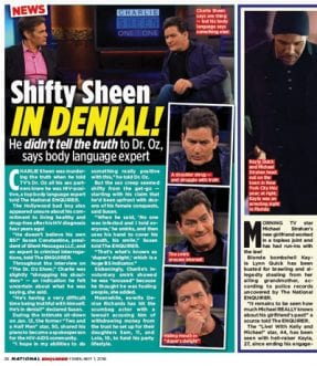 Charlie Sheen's body language tells the truth
