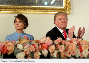 Body language expert gives the low down on Donald and Melania Trump